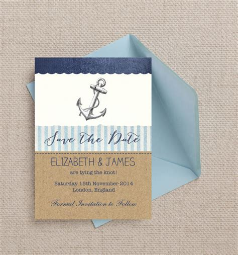 Top 20 Printable Wedding Save The Date Templates Nautical Save The Date Template