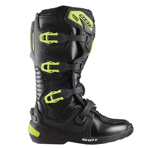 scott motocross boots motocross boots scott 350 boot black green insportline