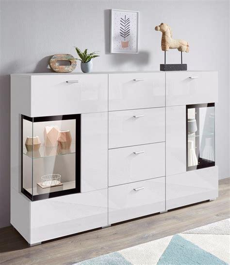 holzschiebetür mit glaseinsatz sideboard breite 132 cm mit t 252 ren mit glaseinsatz otto