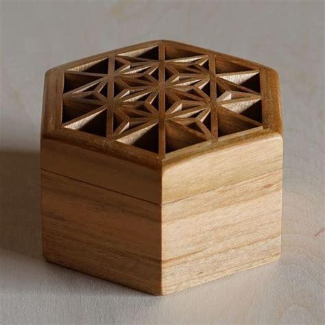 kumiko art box ch wooden box designs japanese