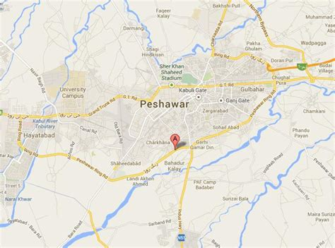 location road map peshawar ring road location map