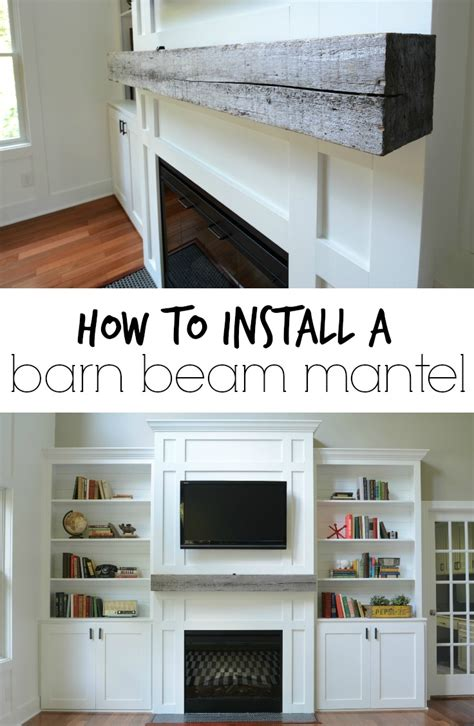 How To Install Fireplace Mantel Shelf by How Install A Barn Beam Mantel Mantels Beams And Barn