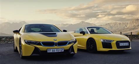 Bmw I8 Audi R8 by Bmw I8 Vs Audi R8 Spyder Two Different Supercars That