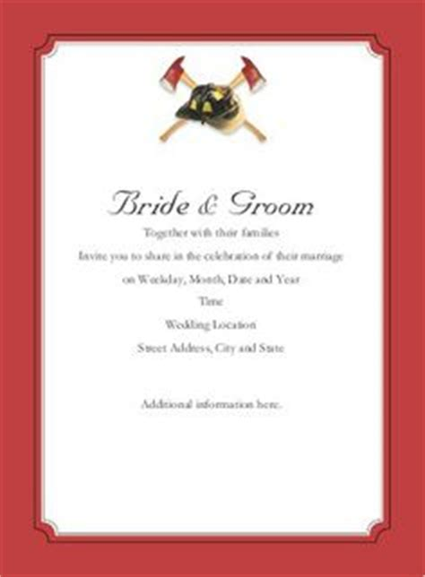 20 Staggering Firefighter Wedding Invitations You Can Modify Theruntime Com Firefighter Invitation Templates