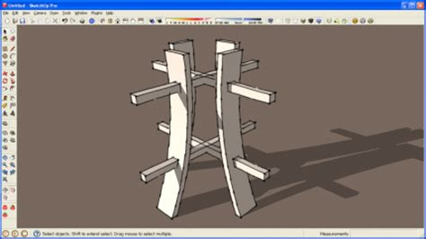sketchup tutorial intersect intersects to create mortises in sketchup