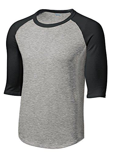 Kaos Ringer Grey Smile baseball shirts kamisco
