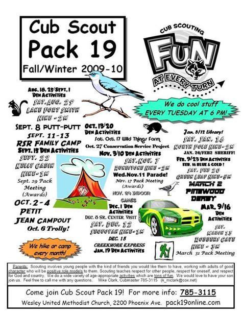 Cub Scout Pack Meeting Flyer Boy Scouts Pinterest Pack Meeting Scouts And Cub Scouts Scout Flyer Template