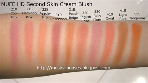 Tiny Houses Pictures by Mufe Hd Blush Second Skin Cream Blush Swatches Of Faces