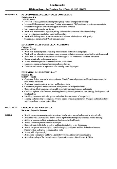 teaching resumes sles education sales consultant resume sles velvet