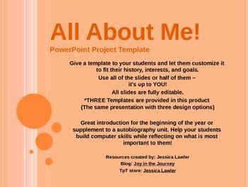 all about me template all about me powerpoint templates by in the journey by