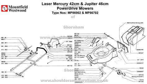 Sparepart Jupiter mp86902 mp86702 mountfield laser mercury 42 jupiter 46
