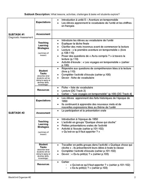 Unit Plans Unit Plan Grade 9 Academic Chan S