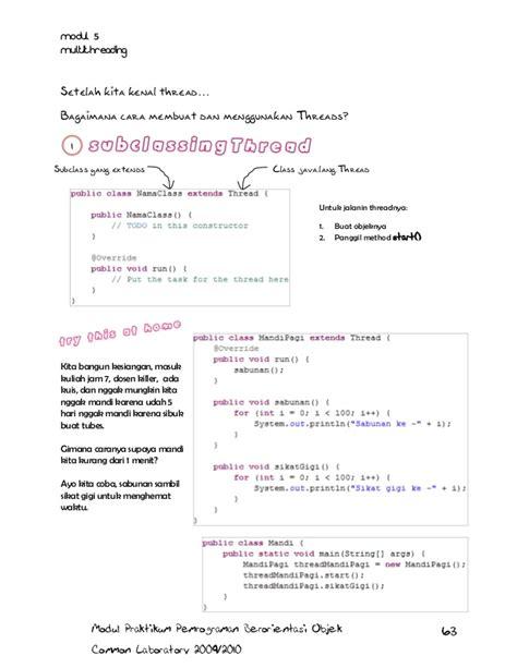 Teknik Pemrograman Dan Multithreading Pada Mikrokontroler Plus Cd Tut modul praktikum pbo