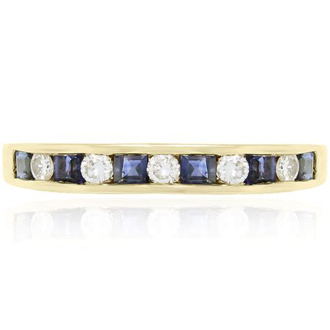 Wedding Bands South Florida by 18k Yellow Gold Sapphire And Wedding Band