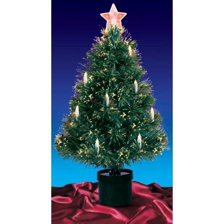 reviews of 3 foot fiber optic christmas tress 3 pre lit fiber optic artificial tree with candles multi lights walmart