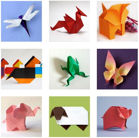How To Make Animal Paper - paper origami animals comot