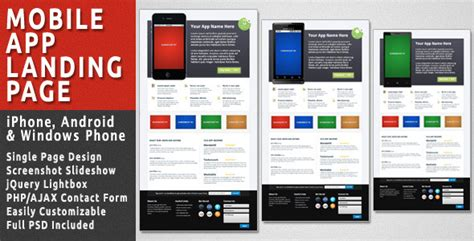 themeforest mobile app mobile app landing page by bjplink themeforest