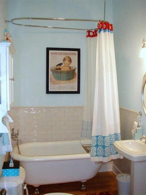 vintage bathroom colors tubs curtains and showers on