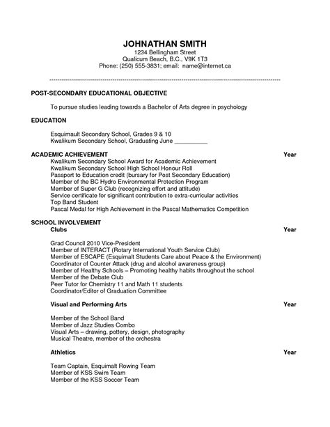 resume for scholarships madrat co