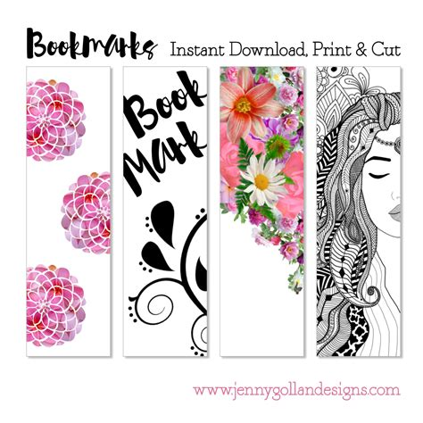 printable editable bookmarks printable bookmark template 2 95 instant download