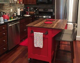 kitchen islands on wheels with seating kitchen island etsy