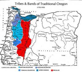 oregon indian tribes map map tribes and bands of traditional oregon