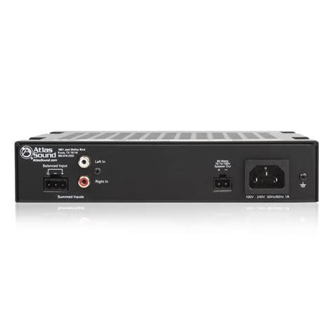 2 input 60 watt single channel power lifier atlasied