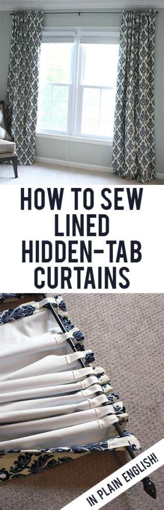 how to make back tab curtains tutorial how to sew diy black out lined back tab curtains
