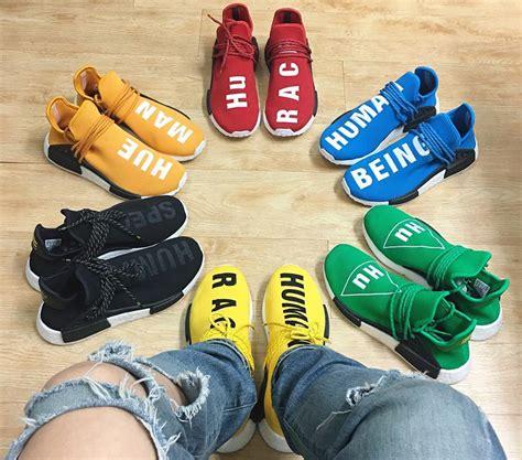 Adidas Nmd Hu X Pharrell William Breathe Walk Sneakers Mirror adidas x pharrell human race nmd size 8 5 mens nwb