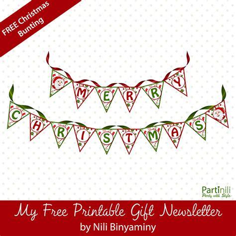 Free Merry Christmas Printable Printable Christmas Bunting View Printable Pages Merry Bunting Template