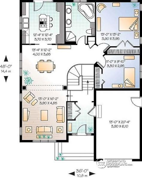 Cottages Floor Plans w3211 small comfortabe amp affordable bungalow with