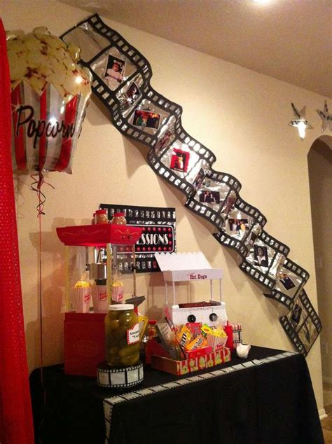 movie decorations for home movie night birthday party ideas