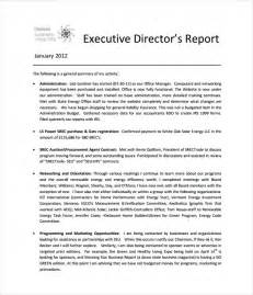 Executive Update Template by Executive Report Template 7 Free Word Pdf Documents