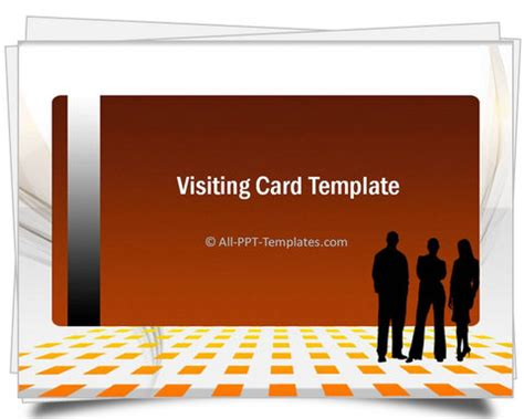 Powerpoint Gold Visiting Card Template Card Powerpoint Template