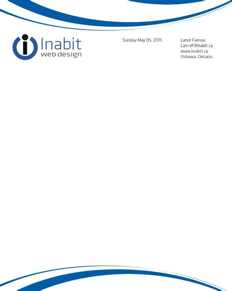 Official Business Letterhead 187 Letterhead Designsthe Supporters
