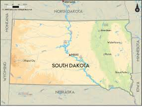 geographical map of south dakota and south dakota