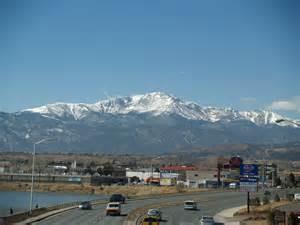 To Colorado Springs File Pikes Peak From Colorado Springs By David Shankbone