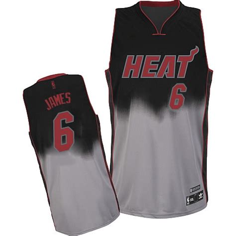 jersey design miami heat lebron james grey authentic fadeaway fashion jersey
