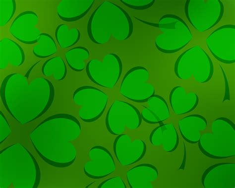 free green clover patterns backgrounds for powerpoint