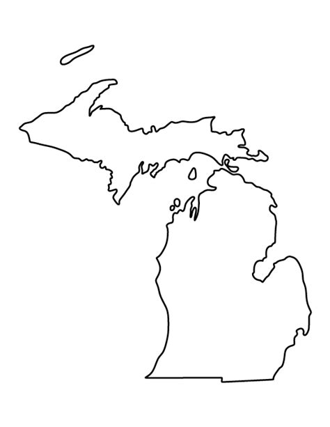 template of michigan pin by muse printables on printable patterns at patternuniverse crafts