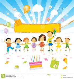kids birthday party stock photography image 9509182