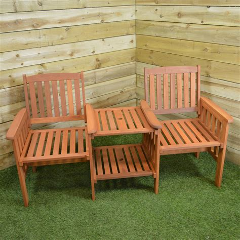 bench and chairs hardwood wooden garden furniture tete a tete garden seat