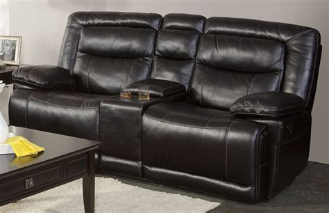 Dual Reclining Sofa With Console Torino Premier Black Dual Reclining Loveseat With Console 20 246 25 Pbk New Classics