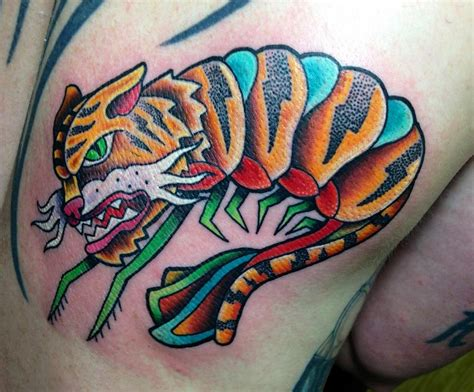 shrimp tattoo tiger shrimp by matt stebly tattoonow
