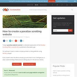 tutorial scrolling website parallax pearltrees
