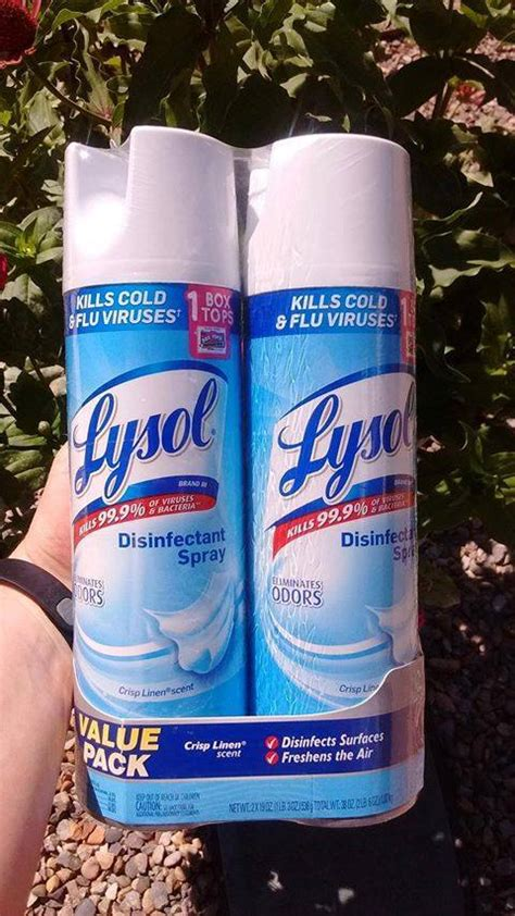 lysol disinfectant spray stock  deal hot coupon world
