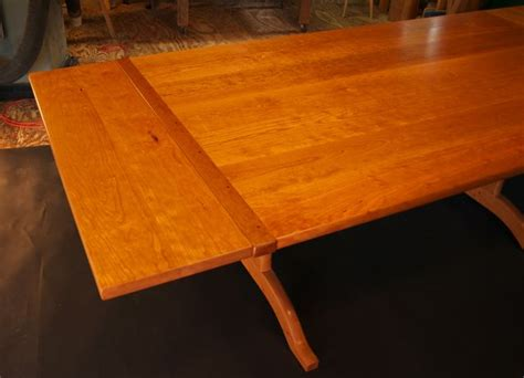 trestle table with leaves cherry trestle table with end leaves guild of vermont