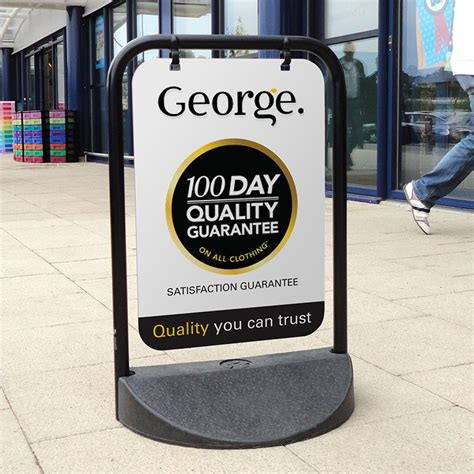 pavement swing signs a board retail shop display signs discount displays