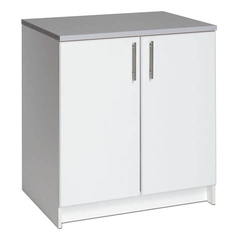 White 2 Door Cabinet Prepac Elite 32 Inch Base Cabinet The Home Depot Canada