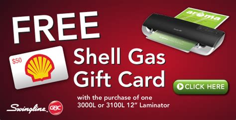 Where Can I Use A Shell Gift Card - swingline gbc fusion 3100l 12 quot laminator